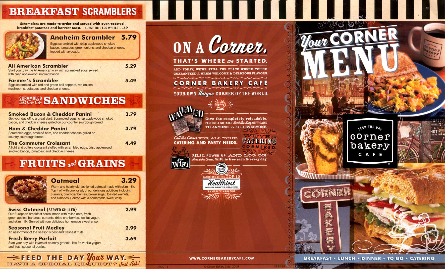 Corner Cafe Leawood Menu