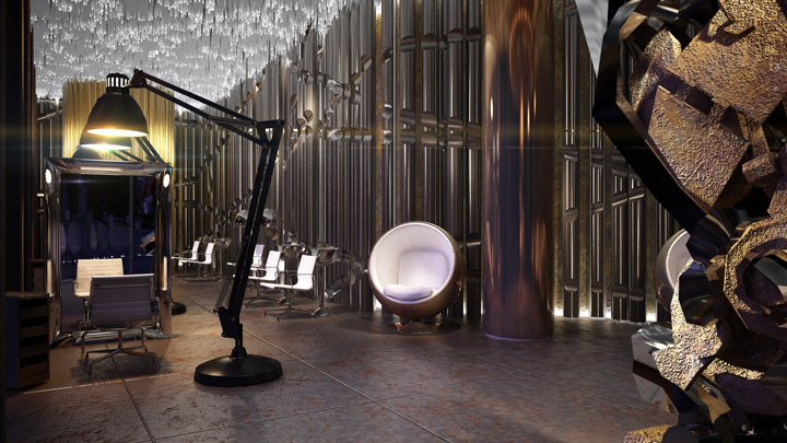 Hair dressers shop interiordesign concept for M concept interior design