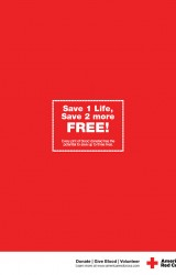 "Red Cross ""Save 2 free"""